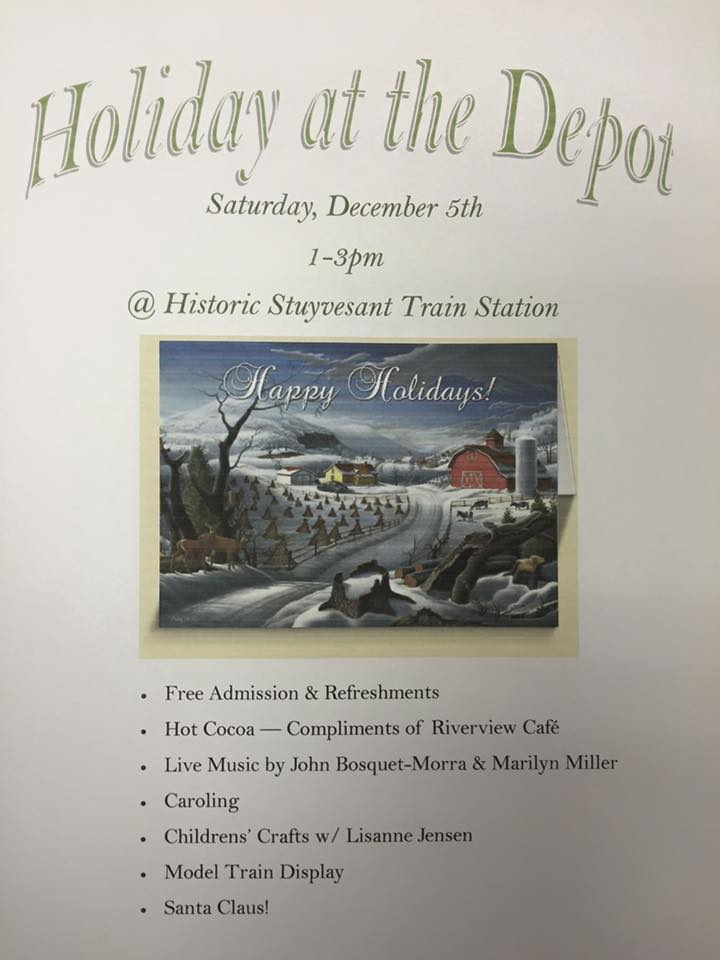 Holiday at the depot flyer