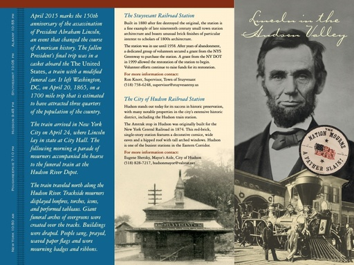 Lincoln Funeral Train Information