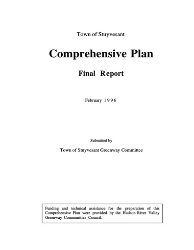 Comprehensive Plan (1996)